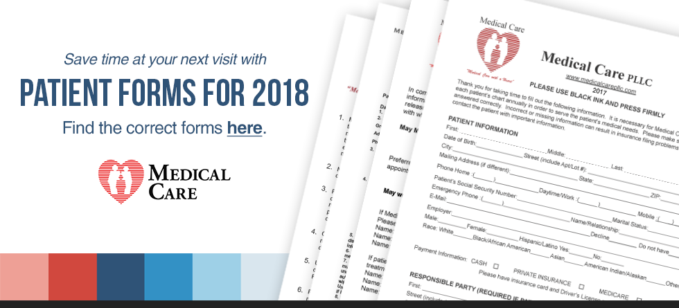 Patient Forms for 2018 Available Here